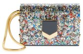 Jimmy Choo 'Locket Minaudiere' Multi Confetti Glitter Clutch - Black