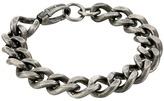 """Steve Madden Stainless Steel 9"""" Curb Chain Bracelet"""