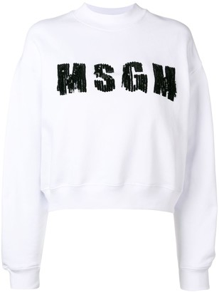 MSGM Sequinned Logo Sweater