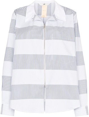 Eytys Daytona striped shirt jacket
