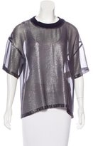 Veronique Branquinho Silk Metallic Top