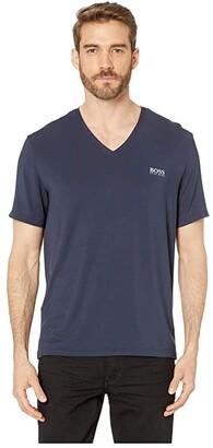 HUGO BOSS Comfort T-Shirt V-Neck (Navy) Men's T Shirt