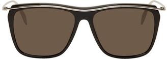 Alexander McQueen Black and Silver Square Sunglasses