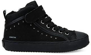 Geox Girl's Kalispera Mixed-Media Sneakers