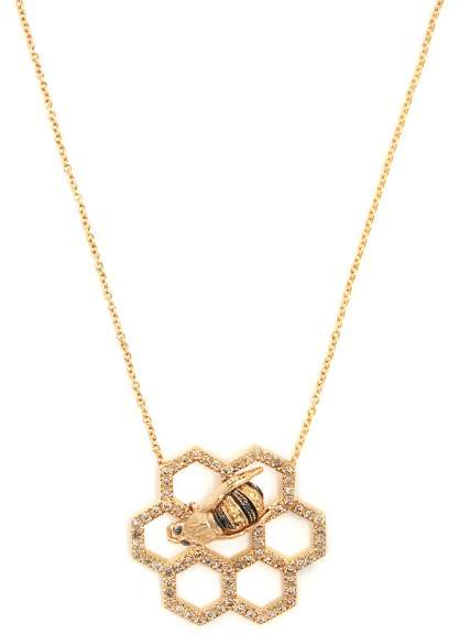 Delfina Delettrez Beehive Diamond & Sapphire Yellow Gold Necklace - Womens - Gold
