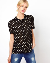 Jaeger Boutique by Polka Dot Blouse