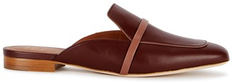 Malone Souliers Jade brown leather mules
