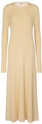 Jil Sander Merino wool-blend midi dress