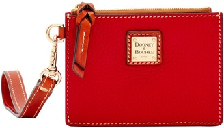 Dooney & Bourke Pebble Grain Zip Top Card Case Wristlet