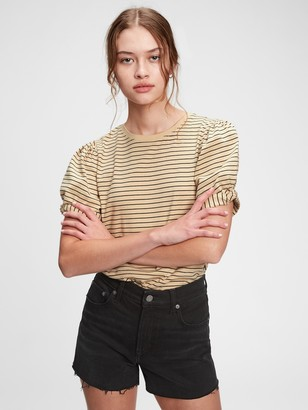 Gap Striped Puff Sleeve T-Shirt