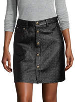 Mo & Co Button Front Mini Skirt