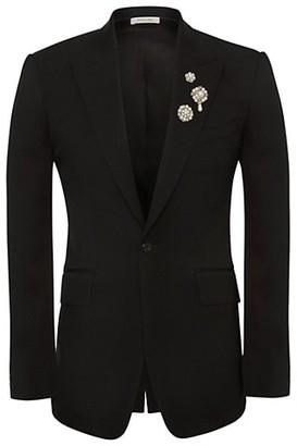 Alexander McQueen Embellished Detail Tuxedo Jacket