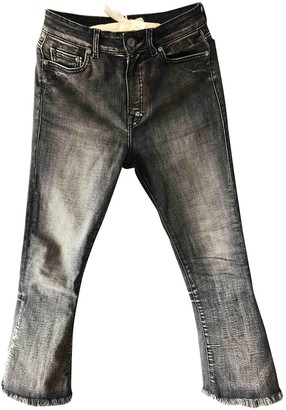 HTC Anthracite Cotton - elasthane Jeans for Women