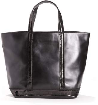 Vanessa Bruno Leather Shopper with Sequin Detail