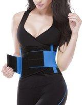 YIANNA Women's Breathable Waist Trainer Tummy Belt-Body Shaper Belt for Hourglass Shaper,CA-YA8002-Black-L