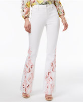 INC International Concepts Embroidered Curvy Flare-Leg Jeans, Only at Macy's