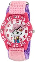 Disney Girl's 'Sheriff Callie' Quartz Plastic and Nylon Automatic Watch, Color:Pink (Model: W003082)