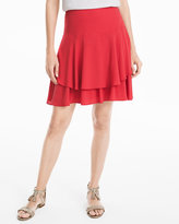 White House Black Market Red Soft Tiered Skirt