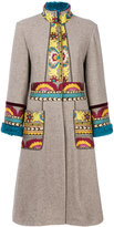 Etro embroidered cardi-coat - women - Cotton/Polyamide/Polyester/Yak - 42