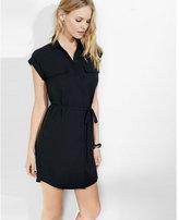Express short sleeve pocket shirt dress