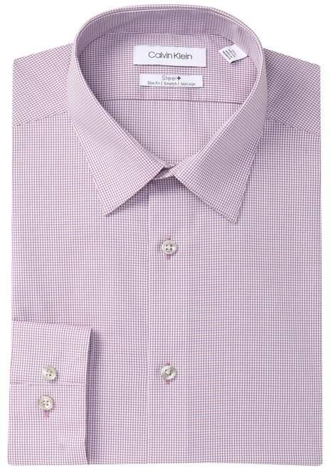 Calvin Klein Check Slim Fit Dress Shirt
