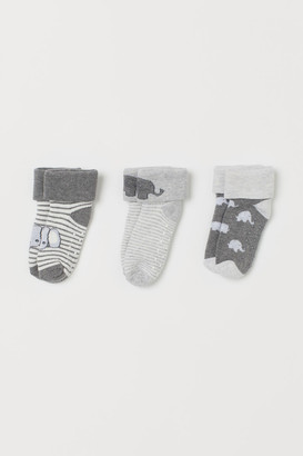 H&M 3-pack Terry Socks - Gray