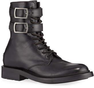 Saint Laurent Army Stud Leather Combat Booties