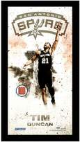 """Steiner Sports San Antonio Spurs Tim Duncan 10"""" x 20"""" Player Profile Wall Art with Game-Used Basketball"""