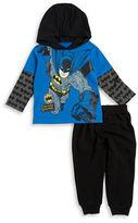 Nannette Boys 2-7 Hooded Batman Tee and Sweatpants Set