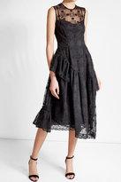 Simone Rocha Embroidered Cotton Blend Dress