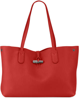 Longchamp Roseau Essential Medium Leather Shoulder Tote Bag