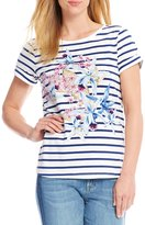 Tommy Bahama Orchid You Not Stripe Short Sleeve Tee
