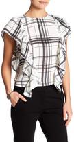 Gracia Checkered Ruffle Shirt