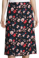 I (heart) Ronson I Heart Ronson Lily Black Button-Front Midi Skirt