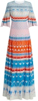 Peter Pilotto Multi-print silk pleated maxi dress