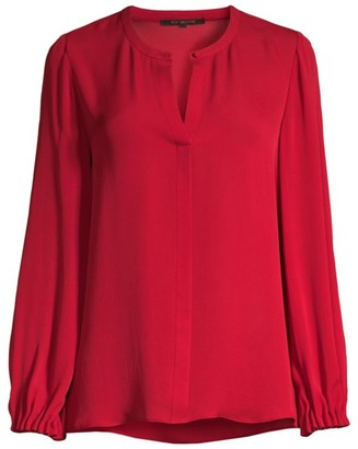 Kobi Halperin Lola Silk Long-Sleeve Blouse