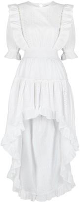 MISA Marika White Broderie Anglaise Dress