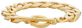 All Blues Gold Polished Moto Bracelet