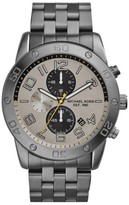 Michael Kors MK8349 Chronograph Silver Dial Gunmetal Stainless Steel 45mm Mens Watch