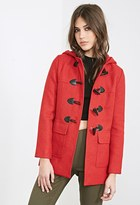 Forever 21 FOREVER 21+ Hooded Toggle Coat