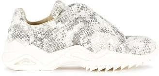 Maison Margiela Future python-effect faux-fur sneakers
