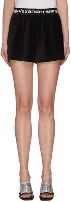 Alexander Wang Logo waistband corduroy shorts