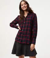LOFT Windowpane Tunic Shirt