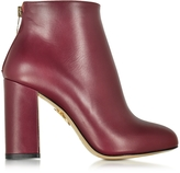 Charlotte Olympia Alba Burgundy Leather Ankle Boot
