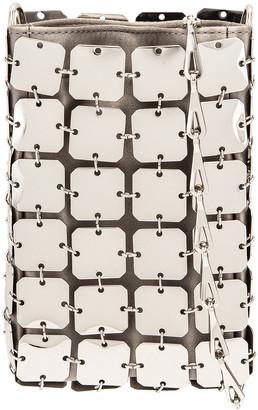 Paco Rabanne Iconic Mini Square 1969 Bag in Silver | FWRD