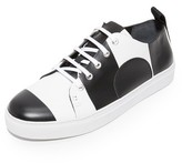 McQ by Alexander McQueen Alexander McQueen Chris Striped Lace Up Sneakers