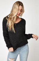 La Hearts Cozy Cross Back Pullover Sweater