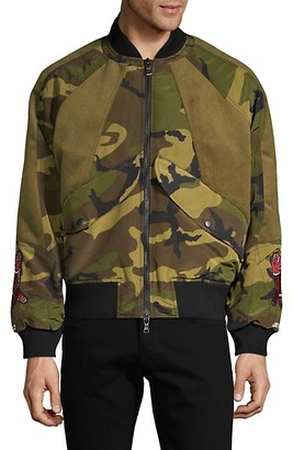 Cult of Individuality Animal-Patch Bomber Jacket