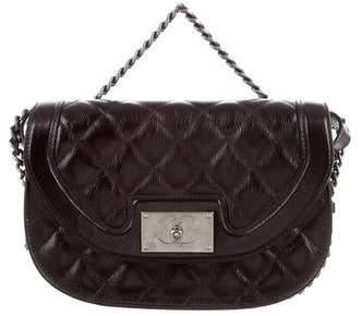 Chanel 2015 Aged Calfskin Saddle Bag
