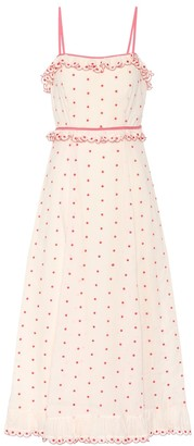 RED Valentino Polka-dotted cotton dress